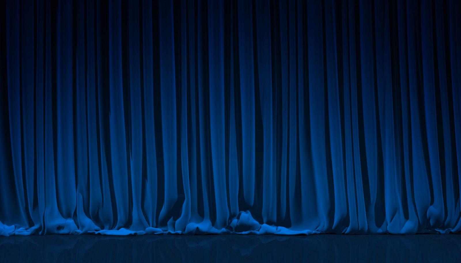 Foto, ridå mörkblå