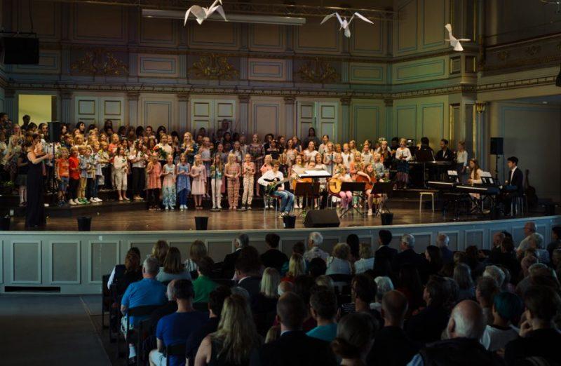 Foto från konsert med publik
