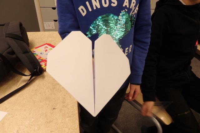 Hjärta vikt i papper, origami